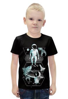 """Футболка с полной запечаткой для мальчиков """"Космонавт"""" - space, космос"""