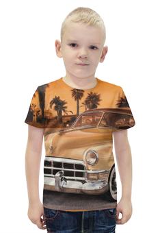 """Футболка с полной запечаткой для мальчиков """"Ретро авто"""" - ретро, авто, ретро автомобиль"""