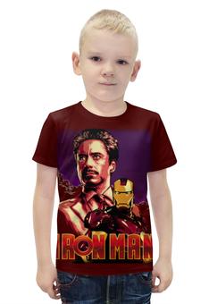 """Футболка с полной запечаткой для мальчиков """"Iron Man/Железный человек"""" - фантастика, marvel, железный человек, iron man, ironman"""