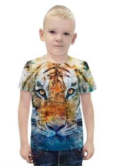 """Футболка с полной запечаткой для мальчиков """"Тигр - Жизнь Пи"""" - кино, природа, tiger, приключения, life of pi"""