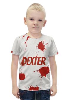 """Футболка с полной запечаткой для мальчиков """"Декстер (Dexter)"""" - dexter, декстер"""