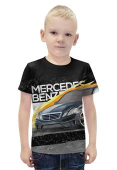"""Футболка с полной запечаткой для мальчиков """"Mercedes benz E-class"""" - авто, автомобиль, mercedes, amg, mb"""