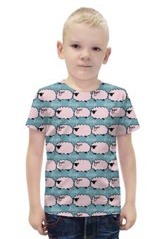 """Футболка с полной запечаткой для мальчиков """"Спящие овечки"""" - авторские майки, сон, животное, овечка"""