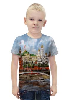 """Футболка с полной запечаткой для мальчиков """"Москва.Кремль"""" - москва, россия, кремль"""