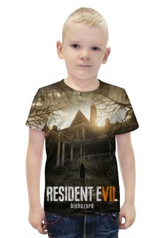 """Футболка с полной запечаткой для мальчиков """"Resident Evil 7"""" - серия, resident evil, biohazard, re, re7"""