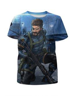 """Футболка с полной запечаткой для мальчиков """"Big Boss (Metal Gear Solid)"""" - metal gear solid, big boss, биг босс"""