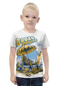 """Футболка с полной запечаткой для мальчиков """"Booze Cruize"""" - море, отпуск, мумия, mummy, cruise"""