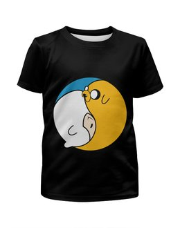 """Футболка с полной запечаткой для мальчиков """"Adventure Time / Время Приключений"""" - adventure time, время приключений, джейк, финн"""
