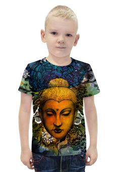"""Футболка с полной запечаткой для мальчиков """"Будда"""" - арт, дизайн, иллюстрация, буддизм"""