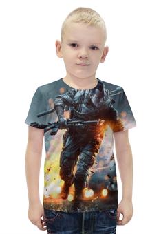 """Футболка с полной запечаткой для мальчиков """"Battlefield 4"""" - игры, ea"""