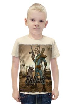 """Футболка с полной запечаткой для мальчиков """"Fallout game"""" - game, fallout, game art, fallout 4, фаллоут"""