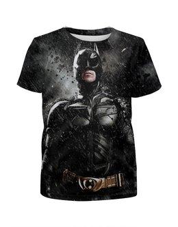 """Футболка с полной запечаткой для мальчиков """"Batman"""" - комиксы, бэтмен, темный рыцарь, dark knight"""