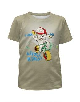"""Футболка с полной запечаткой для мальчиков """"Little Rider  """" - лето, мультик, маленький райдер"""