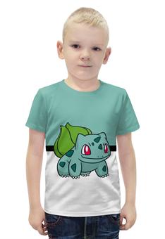 """Футболка с полной запечаткой для мальчиков """"PoKeMon Bulbasaur"""" - pokemon, покемон, bulbasaur, бульбазавр"""