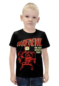 """Футболка с полной запечаткой для мальчиков """"Сорвиголова"""" - комиксы, супергерои, daredevil, сорвиголова"""