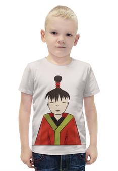 """Футболка с полной запечаткой для мальчиков """"японский мальчик"""" - авторские майки, мальчик, япония"""