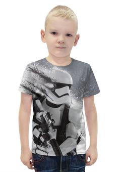 """Футболка с полной запечаткой для мальчиков """"Штурмовик Первого Ордена"""" - star wars, звездные войны, stormtrooper, пробуждение силы, шрурмовик"""