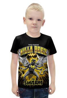 """Футболка с полной запечаткой для мальчиков """"Killa Beez"""" - злая пчела"""