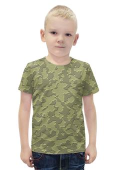 """Футболка с полной запечаткой для мальчиков """"Серо-Коричневый Камуфляж"""" - армия, камуфляж, camouflage, военный, серо коричневый камуфляж"""