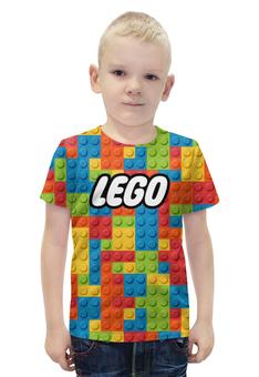 """Футболка с полной запечаткой для мальчиков """"LEGO  """" - lego, лего"""