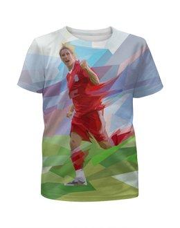 """Футболка с полной запечаткой для мальчиков """"Футбольная мозайка Фернандо Торрес"""" - футбол, арт, абстракция, фернандо торрес"""