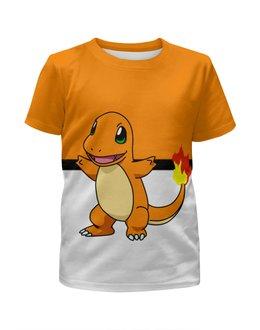 """Футболка с полной запечаткой для мальчиков """"Покемон Чармандер"""" - pokemon, покемон, ящерица, чармандер, charmander"""