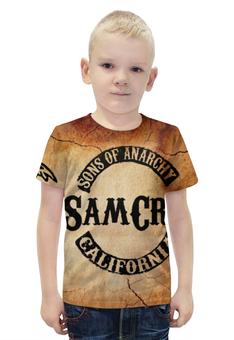 """Футболка с полной запечаткой для мальчиков """" sons of anarchy"""" - дети, sons of anarchy, сыны анархии, анархии"""