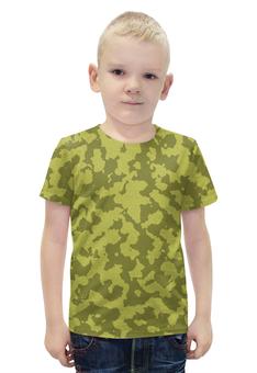 """Футболка с полной запечаткой для мальчиков """"Бежево-Коричневый Камуфляж"""" - армия, камуфляж, camouflage, военный, бежево коричневый камуфляж"""