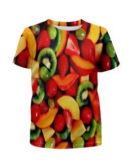 """Футболка с полной запечаткой для мальчиков """"Фрукты"""" - еда, фрукты, ягоды, клубника, плоды"""