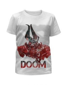 """Футболка с полной запечаткой для мальчиков """"Doom Dota 2"""" - арт, игры, dota 2, дота 2"""
