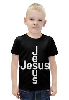 """Футболка с полной запечаткой для мальчиков """"""""Но Он изъявлен был.."""" Исаия 53:5"""" - jesus, иисус, христианские футболки, исаия"""