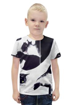 """Футболка с полной запечаткой для мальчиков """"кот кот """" - кошки, коты, котики"""