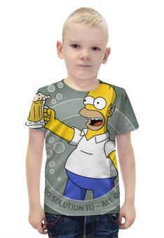 """Футболка с полной запечаткой для мальчиков """"гомер , симпсоны , The Simpsons , мультики """" - мультики, гомер, симпсоны, the simpsons"""