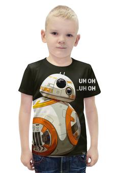 """Футболка с полной запечаткой для мальчиков """"BB-8 (дройд)"""" - star wars, звездные войны, пробуждение силы, bb8, вв8"""
