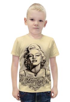 "Футболка с полной запечаткой для мальчиков ""Marylin Monroe"" - ретро, кино, актриса, мэрилин монро, marilyn monroe"