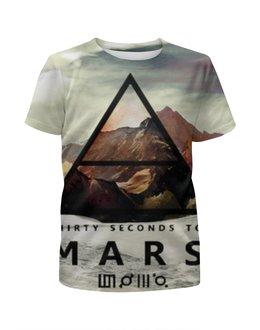 """Футболка с полной запечаткой для мальчиков """"30 Seconds to Mars"""" - 30 seconds to mars, 30 stm, 30 секунд до марса"""