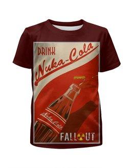"Футболка с полной запечаткой для мальчиков ""Fallout game"" - игра, game, fallout, game art, фаллоут"