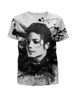 """Футболка с полной запечаткой для мальчиков """"Майкл Джексон / Michael Jackson"""" - музыка, рисунок, король, майкл джексон"""