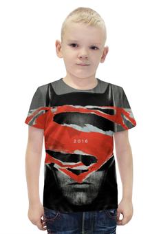 """Футболка с полной запечаткой для мальчиков """"Batman"""" - супермен, batman, бэтмен, на заре справедливости"""