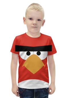 """Футболка с полной запечаткой для мальчиков """"Angry Birds"""" - angry, angry birds, геймер, злые птицы, про игры"""