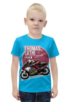 """Футболка с полной запечаткой для мальчиков """"Thomas Luthi"""" - мотоциклист, гонщик"""