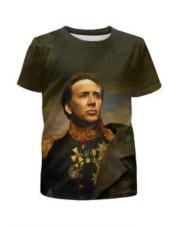 """Футболка с полной запечаткой для мальчиков """"Nicolas Cage"""" - актёр, николас кейдж"""