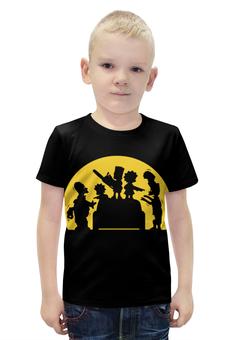 """Футболка с полной запечаткой для мальчиков """"Симпсоны зомби"""" - simpsons, симпсоны"""