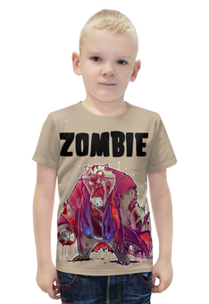 """Футболка с полной запечаткой для мальчиков """"Zombie Cat"""" - кот, животные, zombie, зомби, cat"""