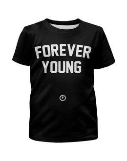 """Футболка с полной запечаткой для мальчиков """"Forever young by Brainy"""" - forever, young, brainy, brainystore"""