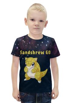 "Футболка с полной запечаткой для мальчиков ""PoKeMon Sandshrew"" - pokemon, покемон, sandshrew, сэндшру"