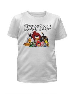 """Футболка с полной запечаткой для мальчиков """"Angry Birds"""" - птицы, птички, мульт, angry birds, энгри бёрдз"""