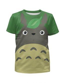"""Футболка с полной запечаткой для мальчиков """"Totoro / Тоторо"""" - totoro, тоторо, аниме, троль, мульт"""