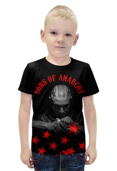 """Футболка с полной запечаткой для мальчиков """"SONS OF ANARCHY!!!"""" - пистолет, звезда, sons of anarchy, сыны анархии, soa"""