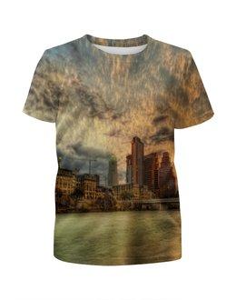 """Футболка с полной запечаткой для мальчиков """"New York"""" - new york, страны, города, природа, закат"""